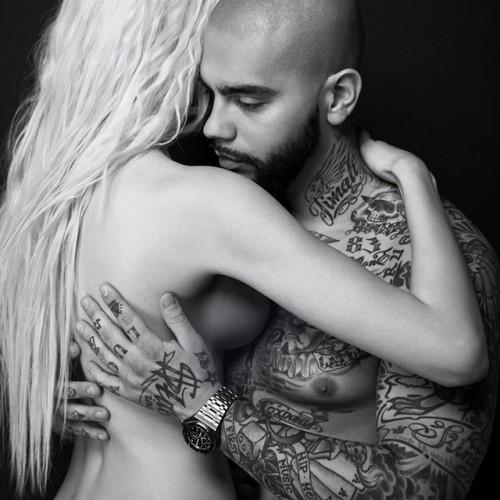 Российский рэпер Тимати с гражданской супругой Еленой