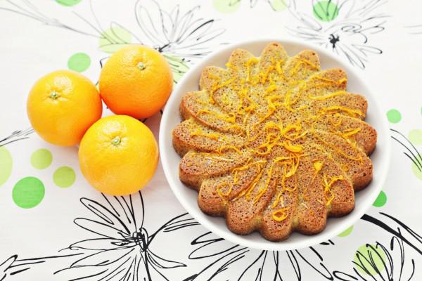 Апельсиновый кекс к семейному чаепитию