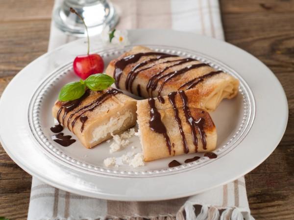 Блинный пирог с творожной начинкой рецепты 4
