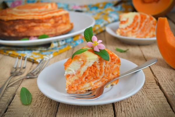 Мраморный пирог с тыквой