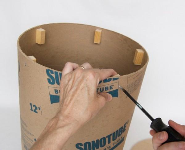 Как из бумаги сделать пень своими руками