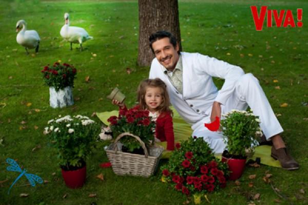 Максим Нелипа с младшей дочкой