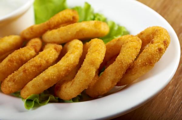 Рецепт                  Кольца из лука
