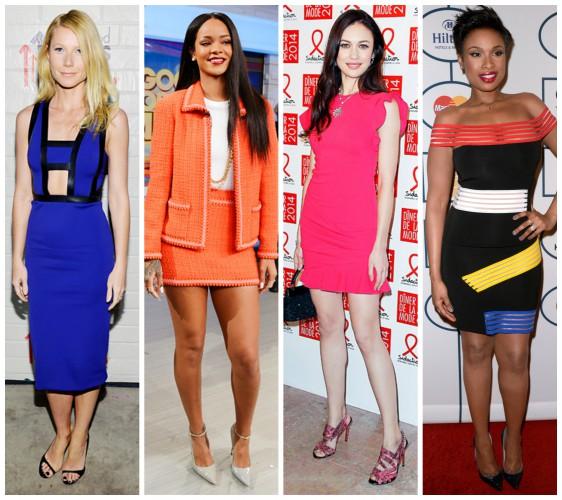 Яркие цвета стали одним из главных трендов среди звездных модниц на прошедшей неделе