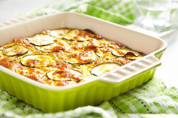 Рецепт                  Запеченные кабачки с тремя видами сыра