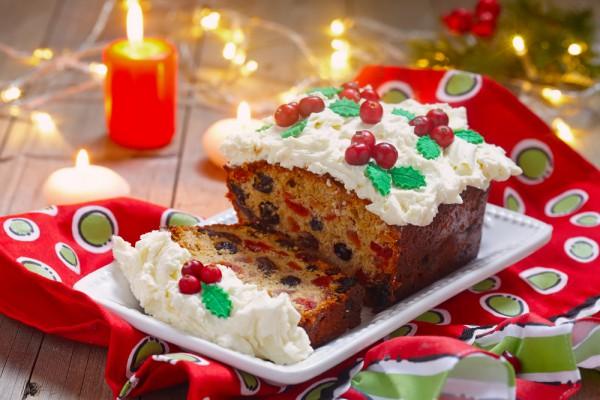 Рождественский фруктовый кекс