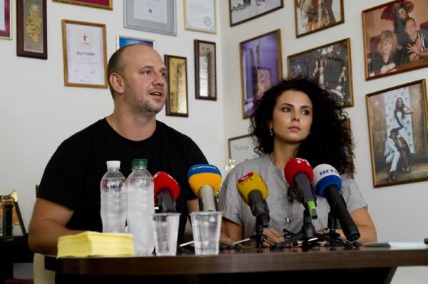 Потап и Настя выступили перед журналистами