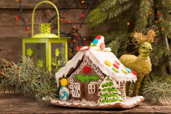 Пряничный домик на Новый год и Рождество