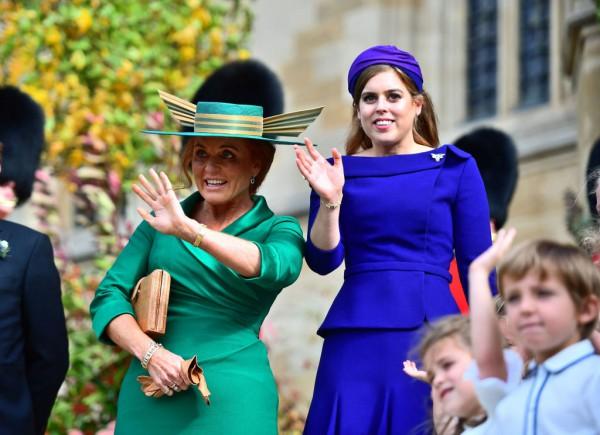 Принцесса Беатрис с мамой Сарой Фергюсон