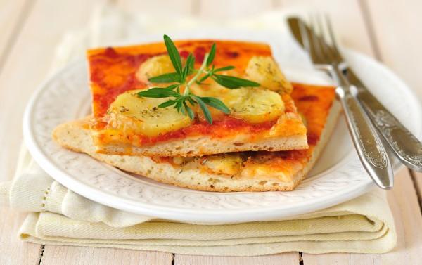 Пицца с картофелем постная