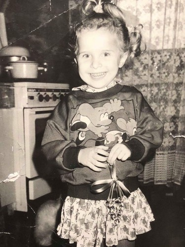 Аня Гресь в детстве