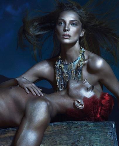 Дарья Вербова в рекламной кампании Versace