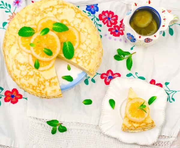 Блинный пирог с лимонным кремом