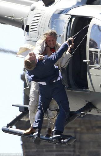 Дэниел Крэйг на съемках фильма 007: Спектр