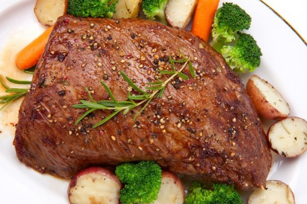 Рецепт                  Запеченная говядина с горчицей