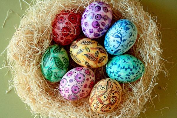 рисунки на яйцах на пасху: