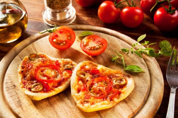 Рецепт                  Пицца в виде сердца на День Валентина