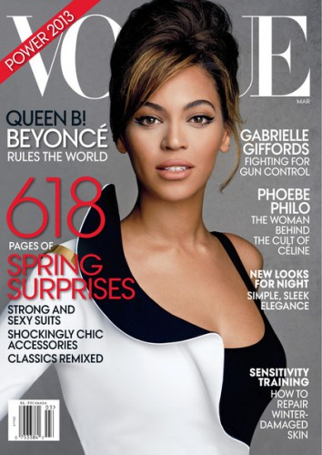 Бейонсе на обложке американского Vogue, март 2013