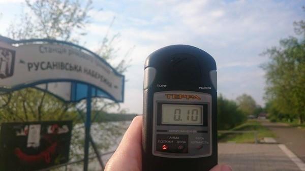 Радиационный фон на Русановских садах