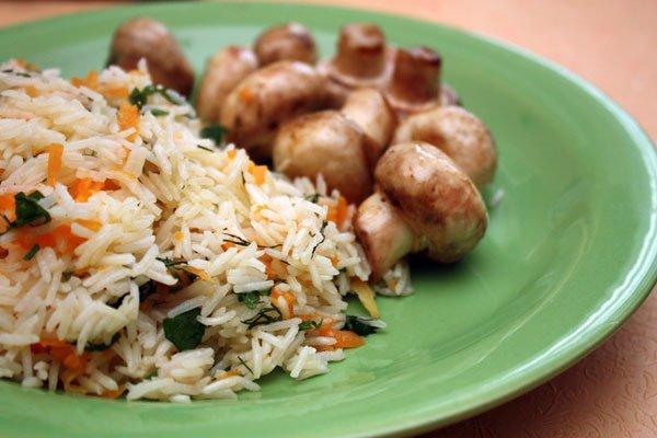 Рецепт                  Постный рис