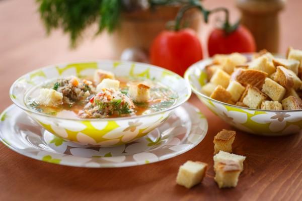 Рецепт                  Говяжий суп с фрикадельками