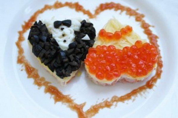 Что приготовить на 14 февраля: салат Влюбленная парочка