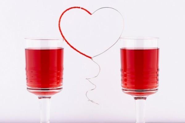 Коктейли на День Валентина