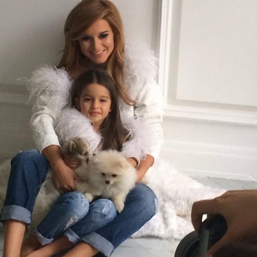 Ксения Бородина снялась в совместной фотосесии со своей дочерью