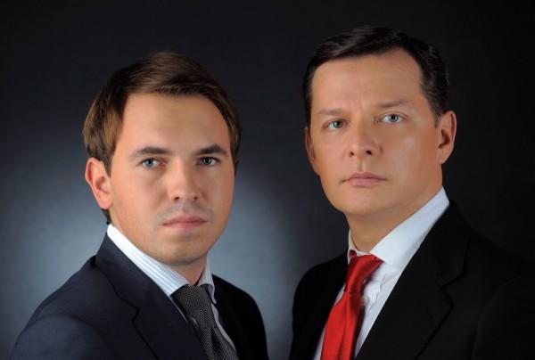 Народные депутаты Андрей Лозовой (слева) и лидер Радикальной партии Олег Ляшко