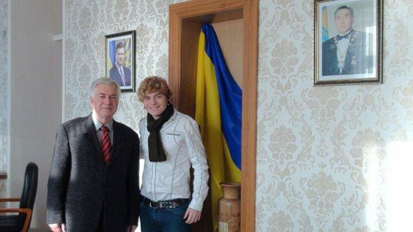 С послом Украины в Казахстане Олегом Деминым