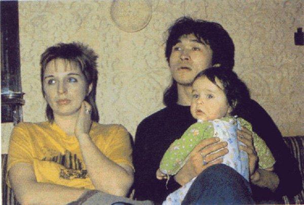 Виктор с женой и сыном Сашей