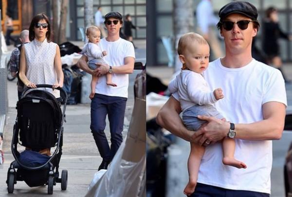 Софи и Бенедикт с сыном Кристофером