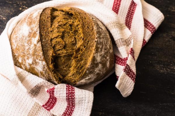 Постный ржаной хлеб