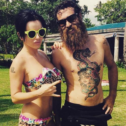 Юлия Волкова хочет сделать себе татуировку, как у бородатого мужчины