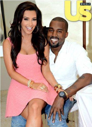 о совем романе Ким и Кани официально сообщили в январе 2012 года