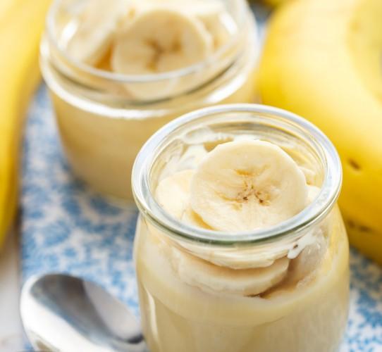 Бананы со сливками фото