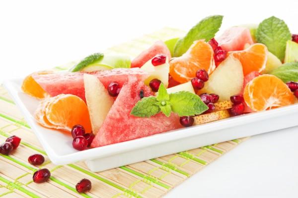 Рецепт                  Салат из арбуза с грушами