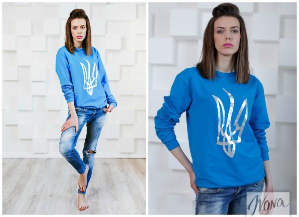 Юлия Дворак, лицо Ivona 2014, в свитшоте бренда X'U, 700 грн
