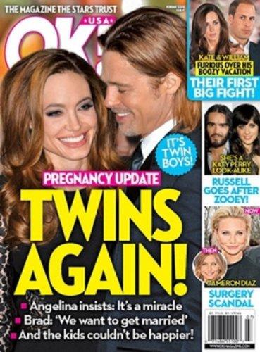 Первым новость о беременности Джоли поведал американский журнал ОК!