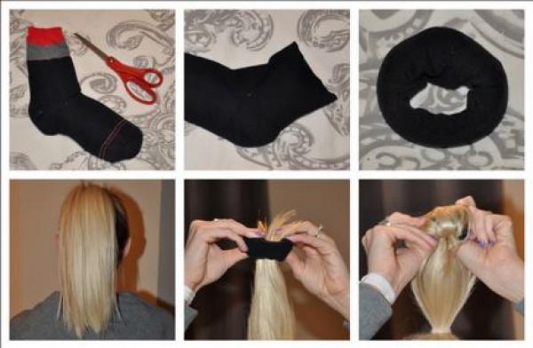 Как сделать бублик для волос в домашних условиях