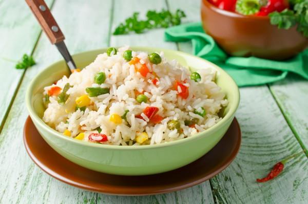 Постный жареный рис