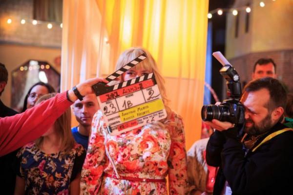 Евгений Кошевой во время съемок в новогоднем мюзикле