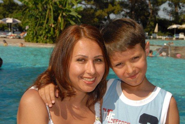 Наталья Мосейчук с сыном