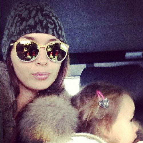Лиза Ющенко и ее дочь Варя