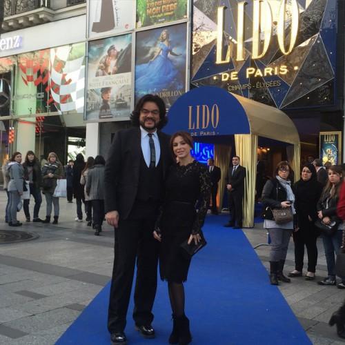 Филипп Киркоров и Ани Лорак посетили шоу LIDO в Париже