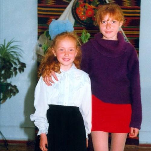 Слава с сестрой Сашей
