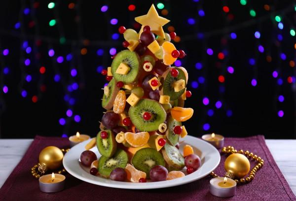 Фруктовая елка на Новый год 2015