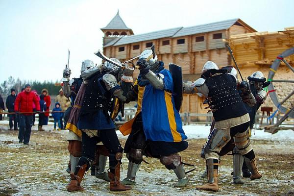 Рыцарские состязания в Парке Киевская Русь