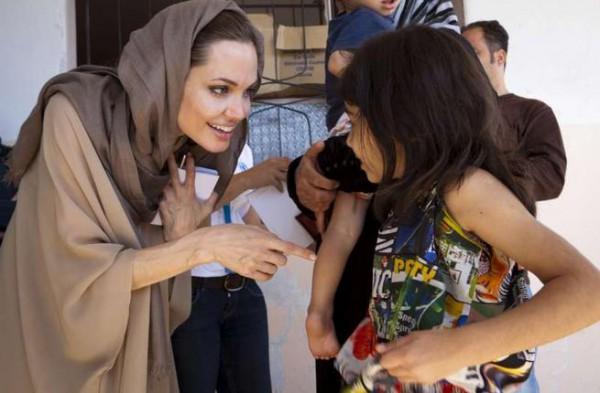 Анджелина Джоли в Ливане