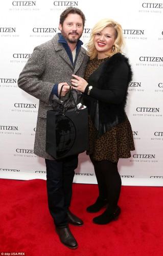 Келли Кларксон с мужем Брэндоном Блэкстоком